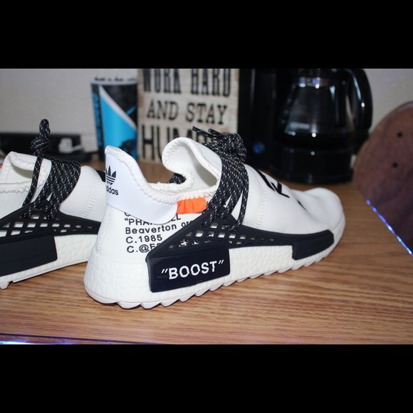 pretty nice 5606e 9e680 Off White x Adidas Human Race Nmd Shoes